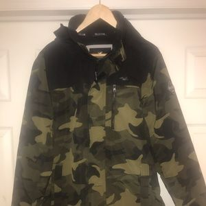 Hollister All Weather Camo Coat